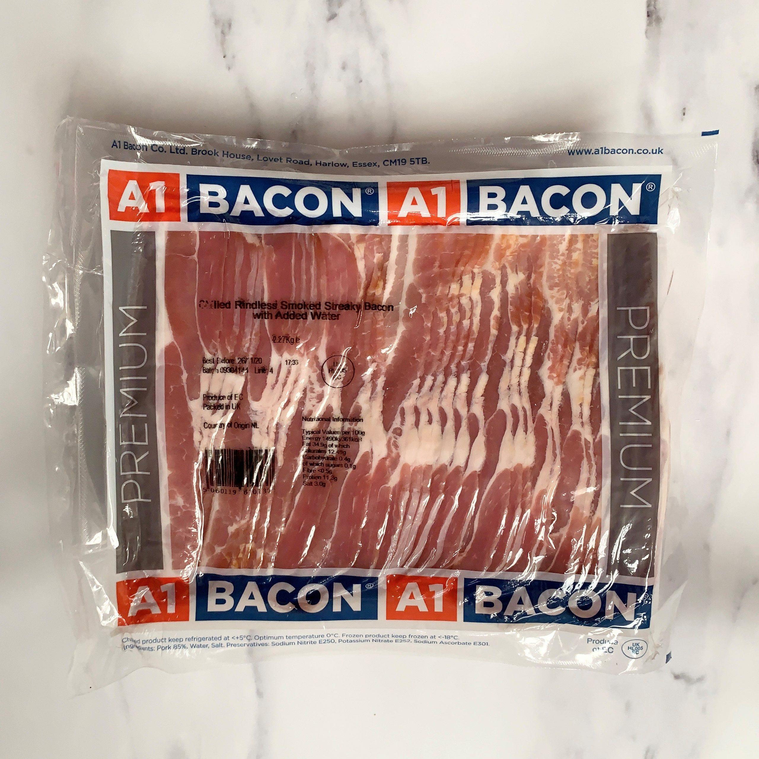 A1 Smoked Streaky Bacon – 2.27kg