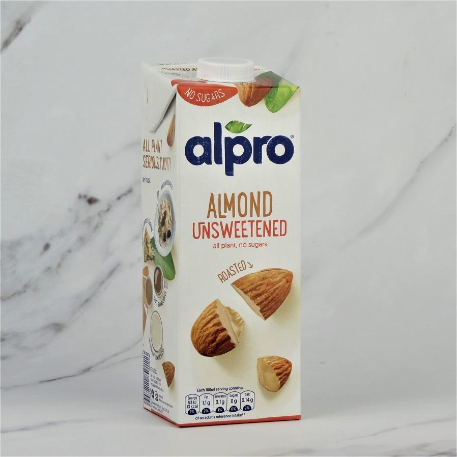 Alpro Unsweetened Almond Milk – 8 x 1ltr