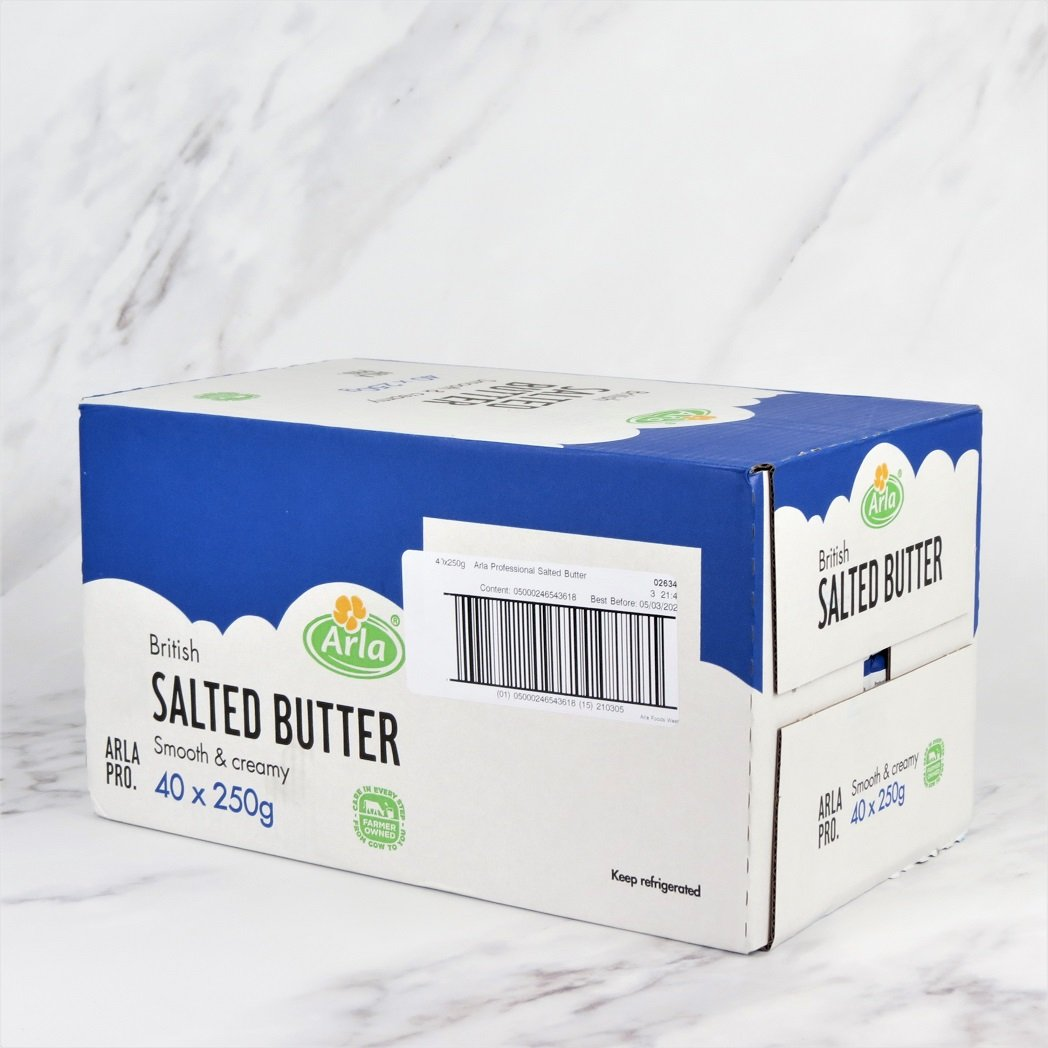 English Salted Butter – 40 x 250g