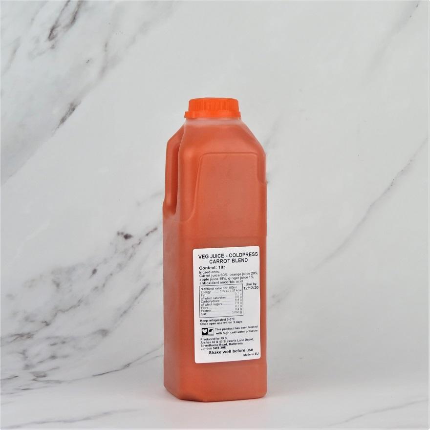 Coldpressed Carrot & Ginger Juice – 1ltr