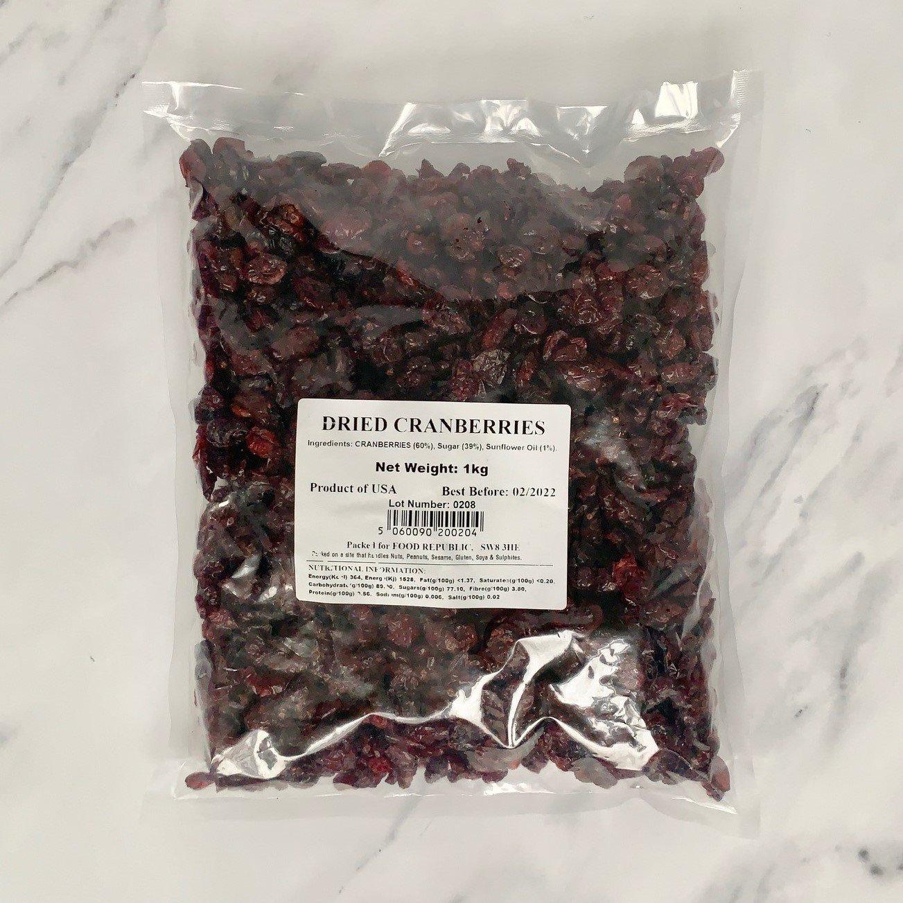 Dried Cranberries – 1kg