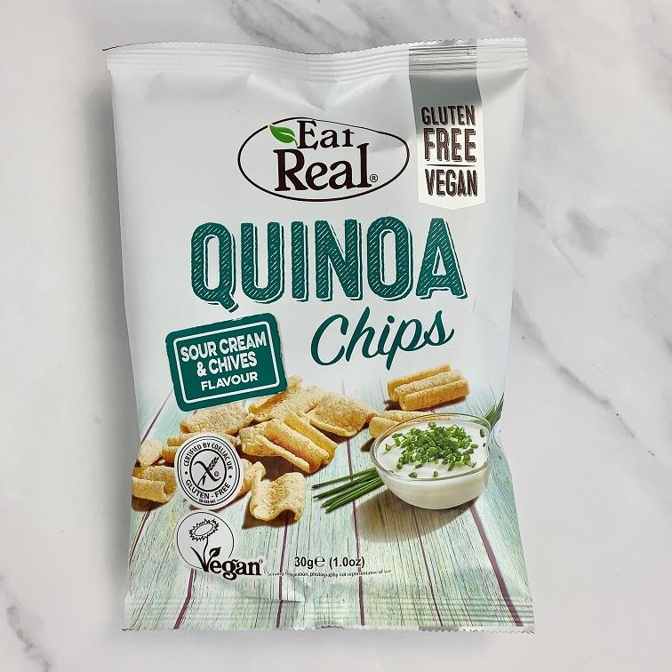 Eat Real Sour Cream Quinoa Chips – 12 x 30g