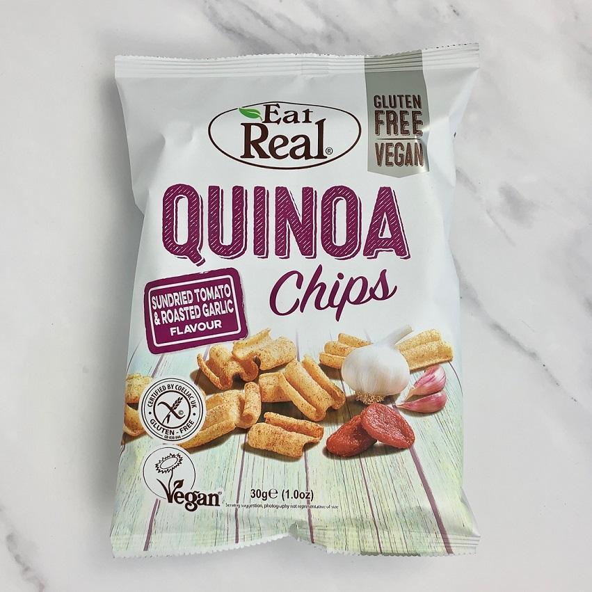 Eat Real Tomato & Garlic Quinoa Chips – 12 x 30g