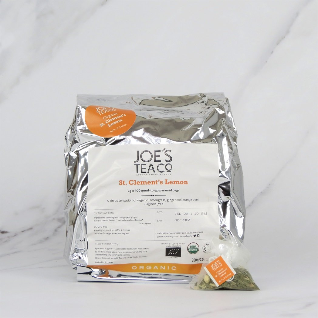 Joe's Organic Lemon & Ginger Tea – 100 bags