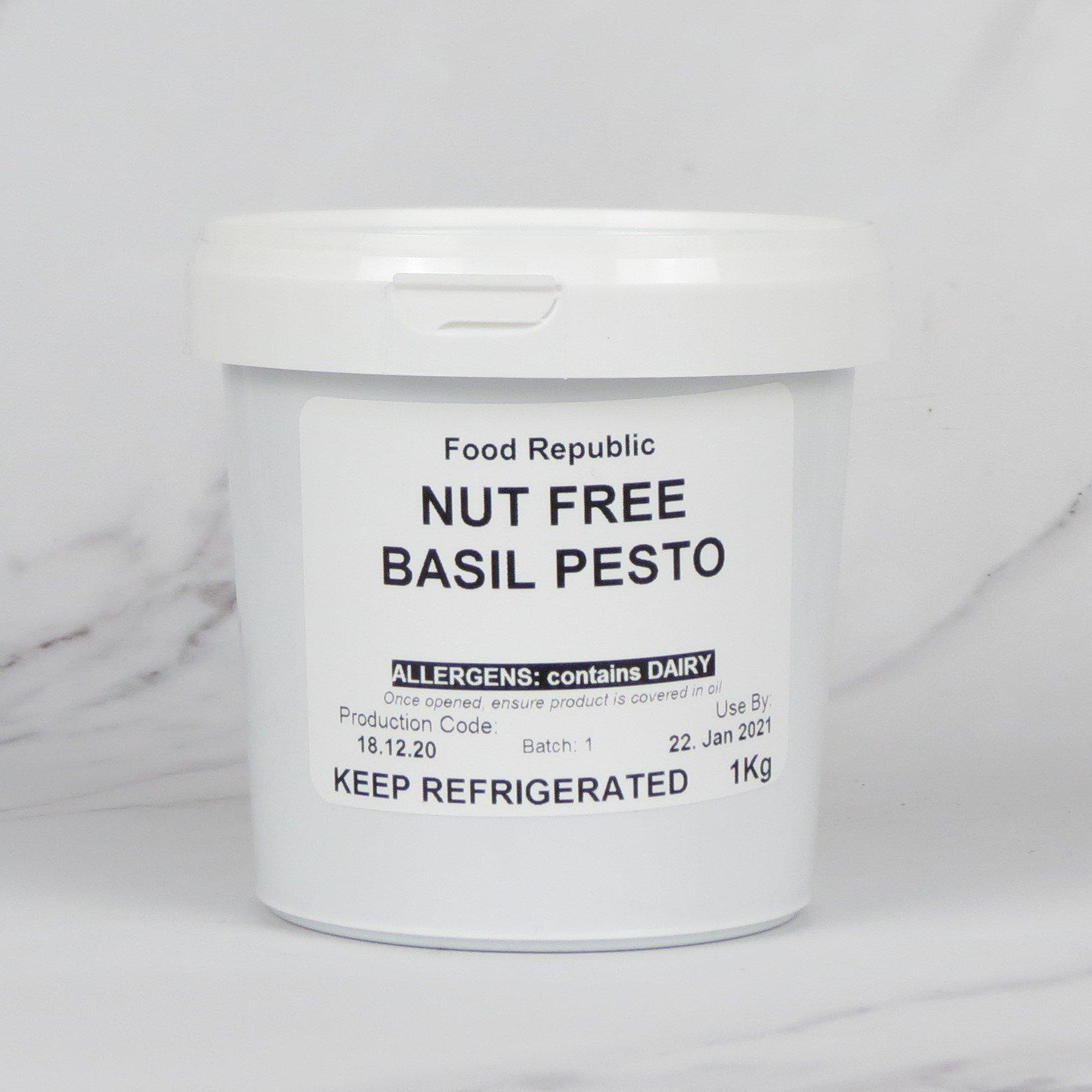 Nut Free Green Basil Pesto (Vegetarian) – 1kg