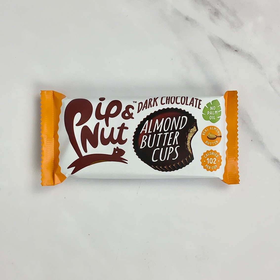Pip & Nut Dark Chocolate Almond Butter Cups – 15 x 34g