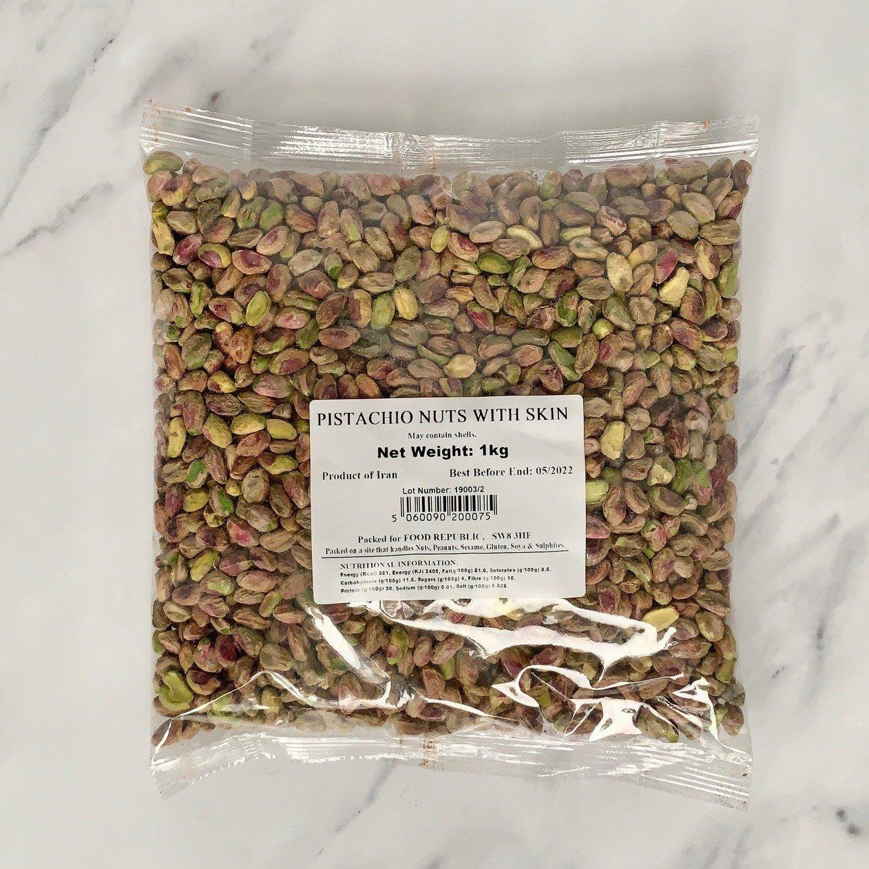 Raw Pistachio Nuts With Skin – 1kg