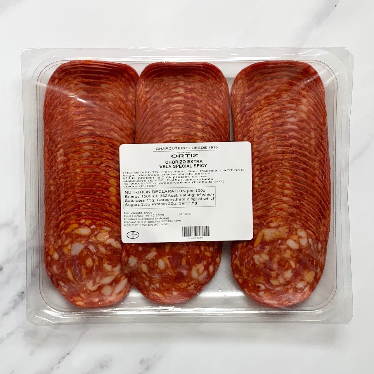Spanish Sliced Chorizo – 500g