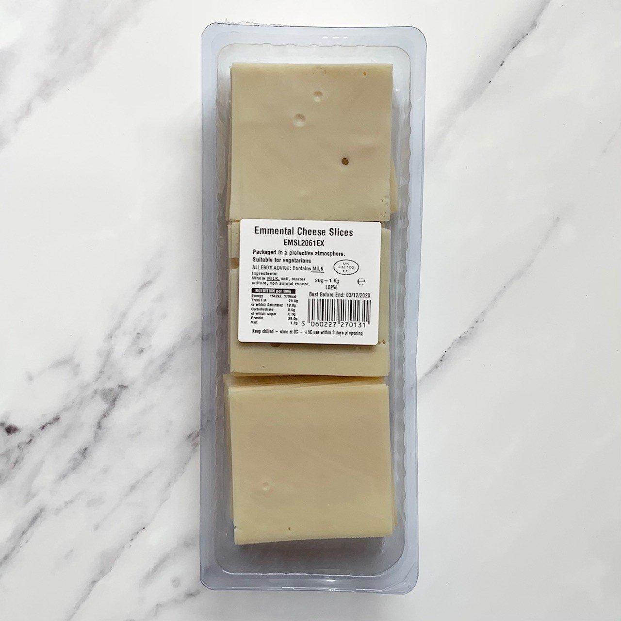 Sliced Emmental Cheese – 1KG