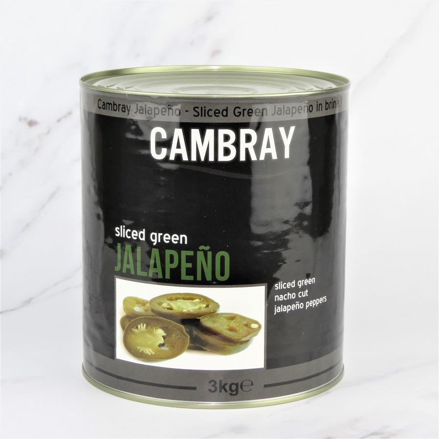 Sliced Green Jalapenos – 6 x 3kg