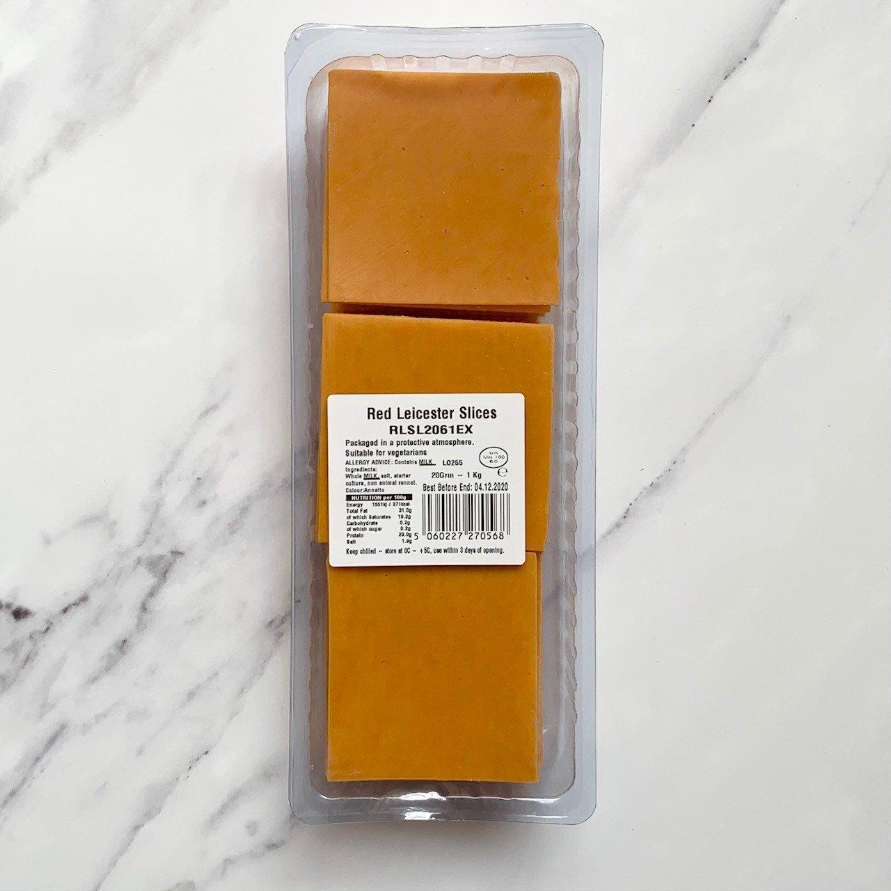 Sliced Red Leicester – 1kg