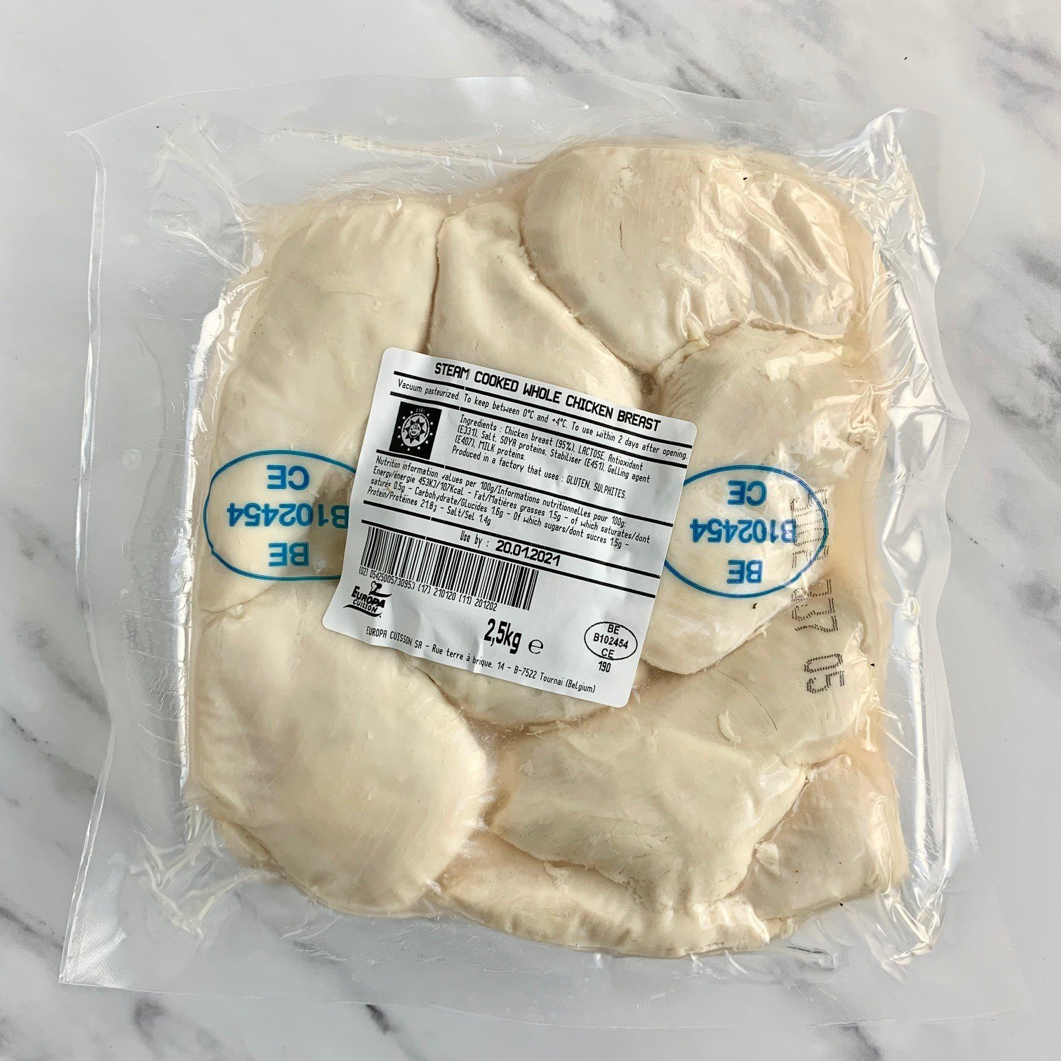 Steamed Chicken Breasts – 2.5kg