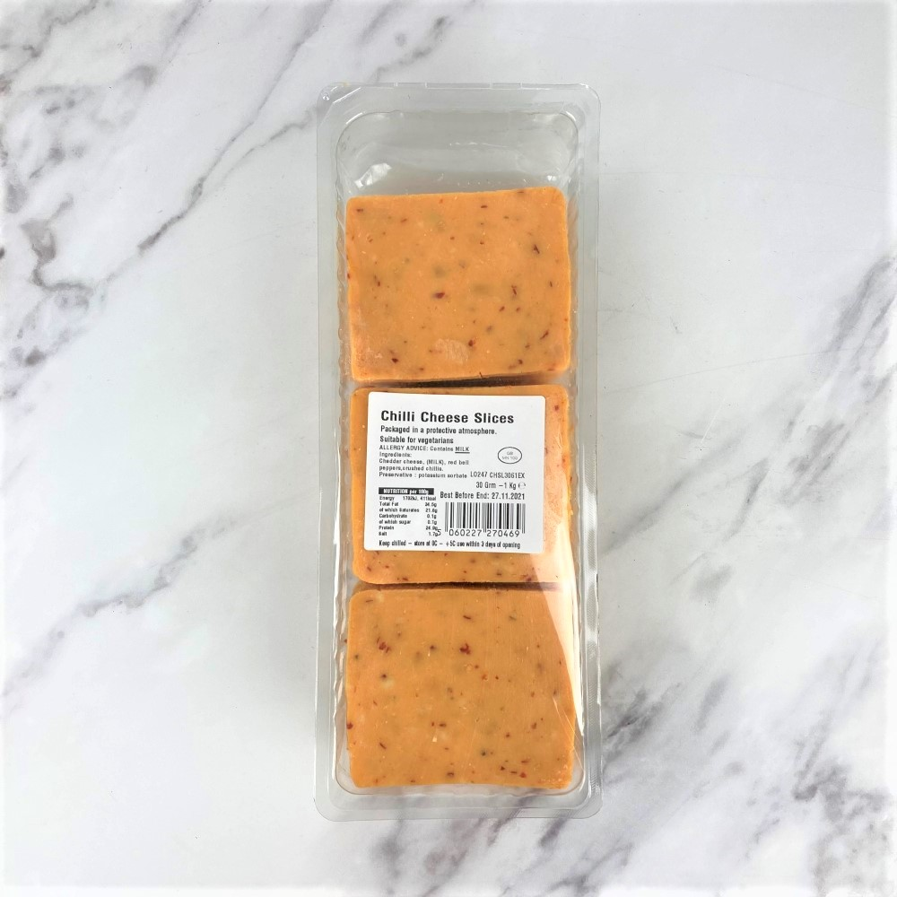Sliced Chilli Cheese – 1kg