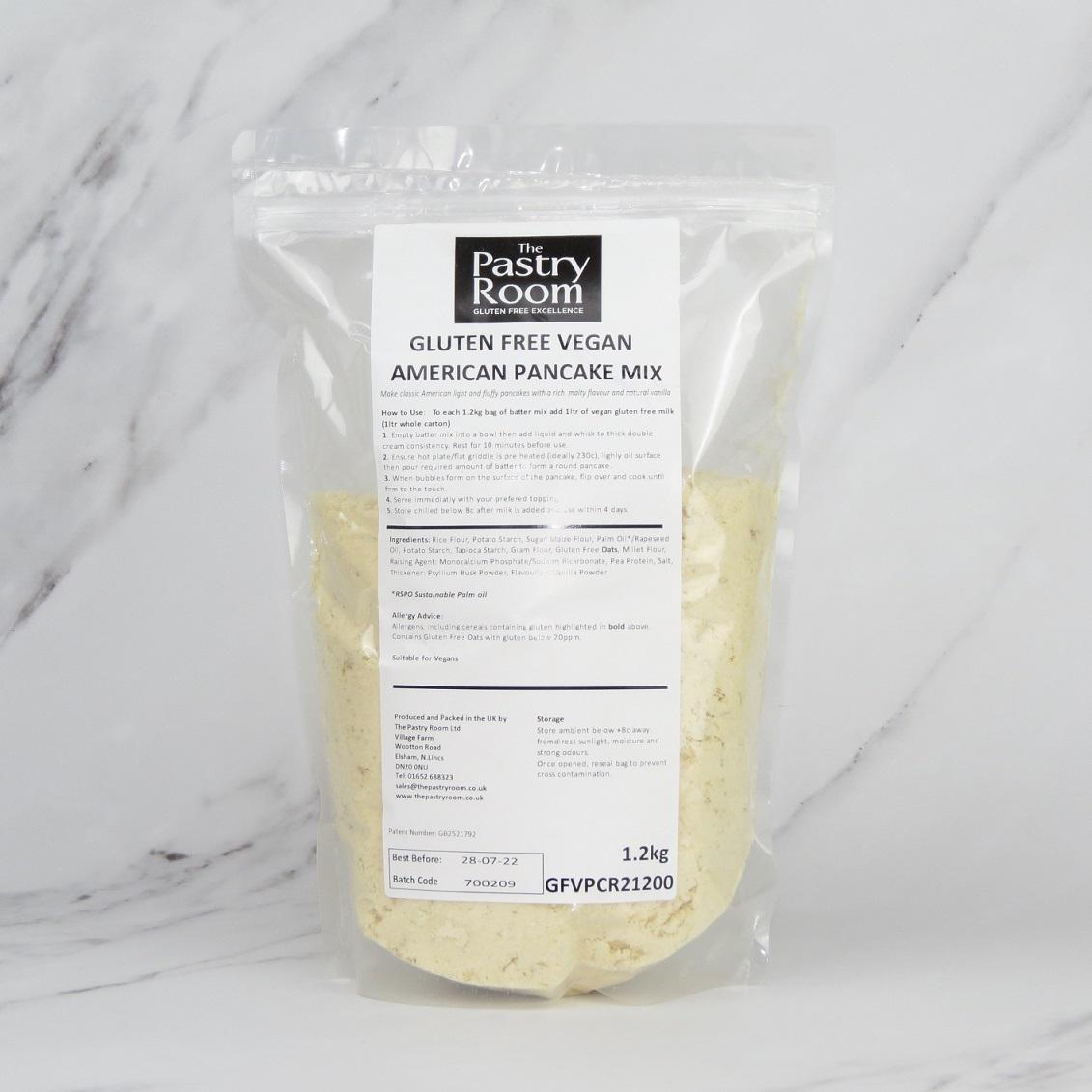 Vegan Pancake Mix (Gluten Free) – 6 x 1.2kg